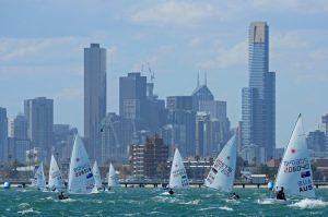 Racing under the Melbourne skyline, ISAF Sailing World Cup