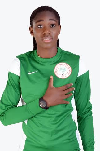 Image result for Super Falcons and Arsenal Ladies striker, Asisat Oshoala, has been unveiled as the face of the 2016 Women Federation Cup