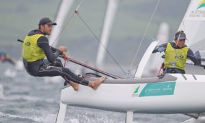 Copyright onEdition 2015© credit: onEdition Jason Waterhous and Lisa Darmanin, AUS, Mixed Multihull (Nacra 17)