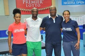 L-R Morenike Oshinaike, Segun Toriola, Sarah Hanffou and Enitan Oshodi