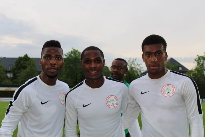 Super Eagles Forwards from L-R  Iheanacho, Ighalo, Iwobi