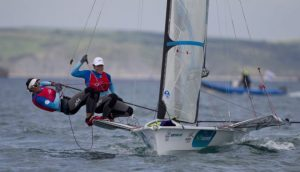 Copyright onEdition 2015© credit: onEdition Tamara Echegoyen and Berta Betanzos Moro, ESP, Women's Skiff (49erFX)