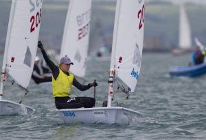Marit Bouwmeester, NED, Women's One Person Dinghy (Laser Radial) on day five of the ISAF Sailing World Cup Weymouth & Portland. Copyright onEdition 2015©