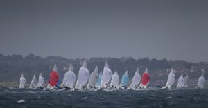 Men's Two Person Dinghy (470) Fleet on day four of the ISAF Sailing World Cup Weymouth & Portland. Copyright onEdition 2015©