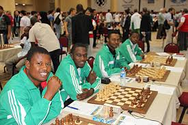 Nigerian male team at the World Chess Olympiad in Istanbul, Turkey in 2012.