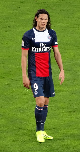 Edinson Cavani photo credit: Liondartois https://creativecommons.org/licenses/by-sa/3.0/legalcode