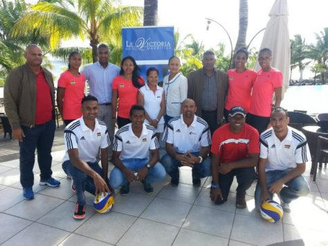 Mauritius National Team during  residential training at Le Victoria Hotel, at Pointe aux Piment  Mauritius. volleyball