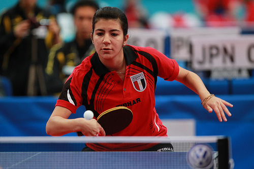 Nadeen El-Dawlatly in the colours of Egypt at a major competition