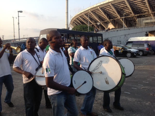 Nigeria Football Supporters Club Members In Action