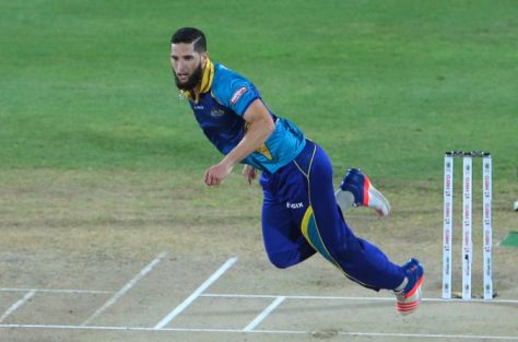 5 July 2016; Wayne Parnell of the Barbados Tridents bowls during Match 8 of the Hero Caribbean Premier League between St Kitts & Nevis Patriots and Barbados Tridents at Warner Park in Basseterre, St Kitts. Photo by Ashley Allen/Sportsfile