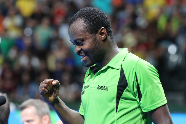Aruna Quadri is now the first ever African Olympic quarterfinalist in the sport of table tennis