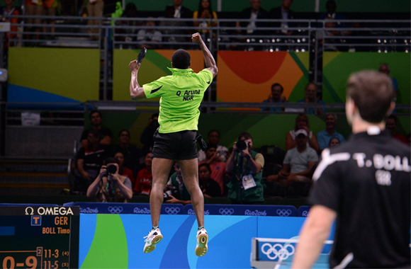 Early birthday celebrations for Aruna, Africa's first ever Olympic table tennis quarterfinalist!