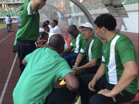 Coach Rohr Takes Charge As 20 Eagles  photo credit: @theNFF