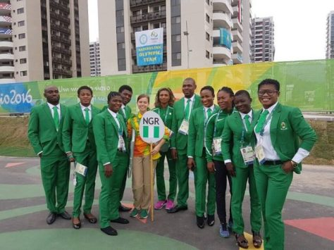 Nigeria Amateur Wrestlers at Rio 2016 Olympic Games photo credit: Nigeria Amateur Wrestling Federation