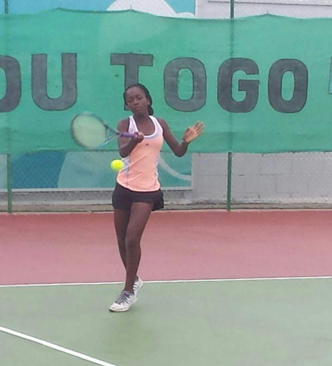 Quadri training during ITF Junior Circuit third leg in Lome, Togo