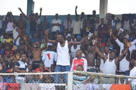 Enyimba FC Fans in Jubilant mood