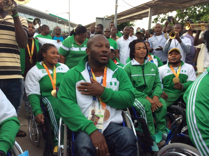 Image result for Nigeria's Rio 2016 paralympics team receives rousing welcome