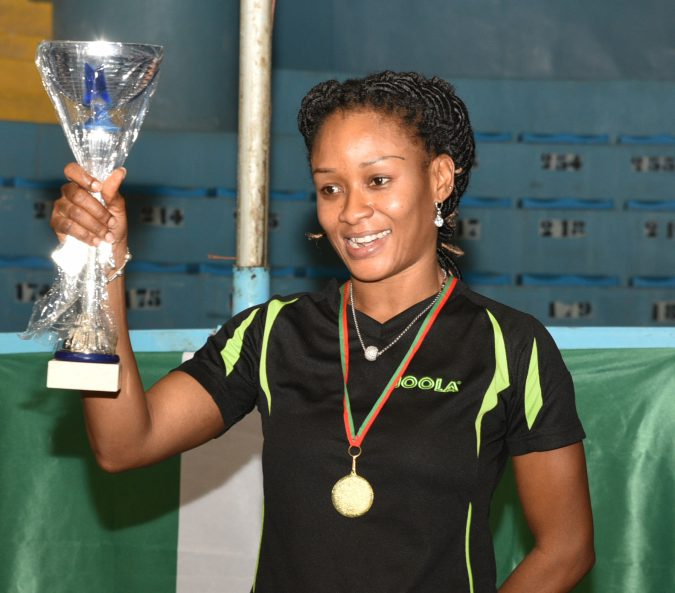 African Women's Table Tennis Single's Champion  Funke Oshonaike