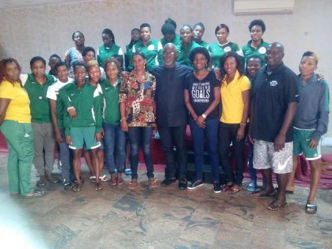 NFF President Amaju Pinnick With the Super Falcons