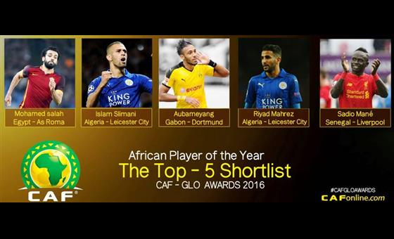 CAF AFRICAN PLAYER OF THE YEAR TOP FIVE PLAYERS REVEALED  CREDIT: CAF