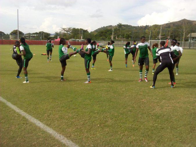 Nigeria Falconets Training photo credit: Monica Iheakam