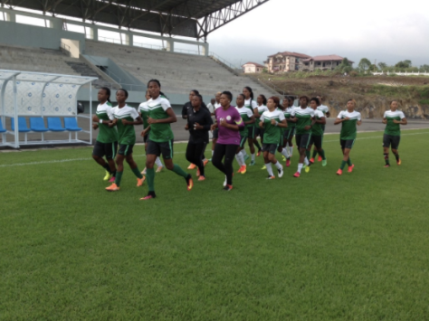 Super Falcons Training photo credit: @NGSuper_Falcons