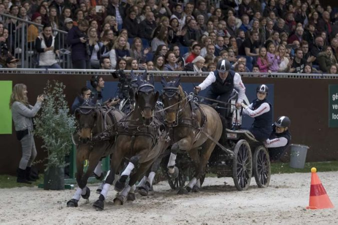 Boyd Exell (AUS) won the CAI-W Geneva for the 9th consecutive time (FEI /Dirk Caremans) By Cindy Timmer