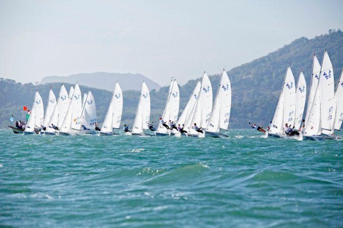 420 Women Fleet Race Day2, 2015 Youth Sailing World Championships, Langkawi, Malaysia