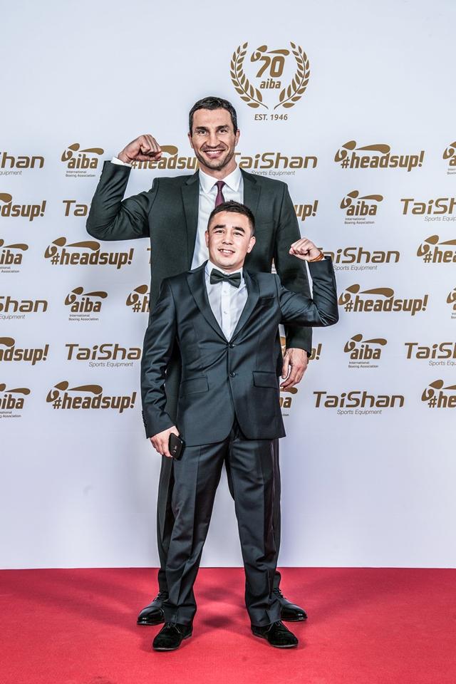 Wladimir Klitschko and Hasanboy Dusmatov