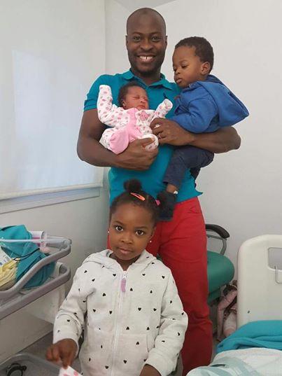 Aruna Quadri with his Children