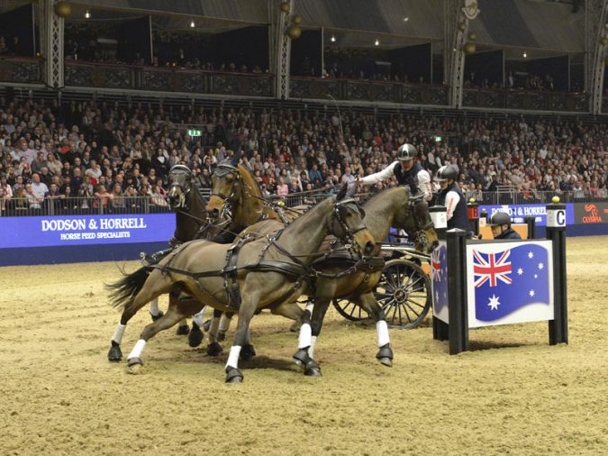 Boyd Exell's team was 'on song' in the electric atmosphere at London Olympia (FEI /Trevor Meeks)
