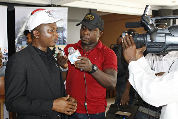 Head of Sales Billionaire Bet Mr Adole Kenneth in a quick interview with the press at the unveiling of Billionaire Bet at Grasshoppers House on December 23rd 2016