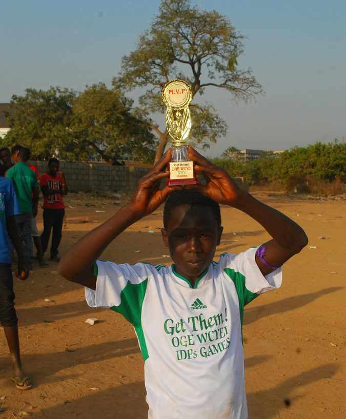 """The """"Get Them"""" IDPs Games, John Dawa emerged as the MVP of the 5-a-side football event"""