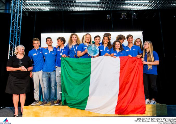 Italy win the 2016 Aon Youth Sailing World Championships  photo credit: World Sailing
