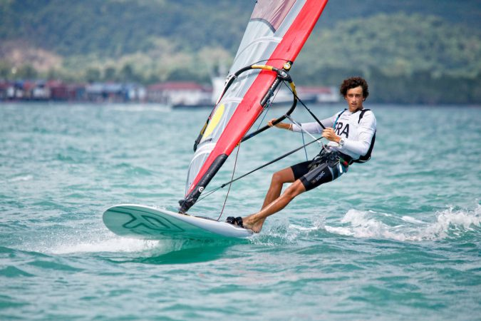 France RS:X Men HelmFRATL41Titouan Le Bosq Day5, 2015 Youth Sailing World Championships, Langkawi, Malaysia