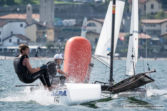 nacra15 in action, 2016 Aon Youth Sailing World Championships,