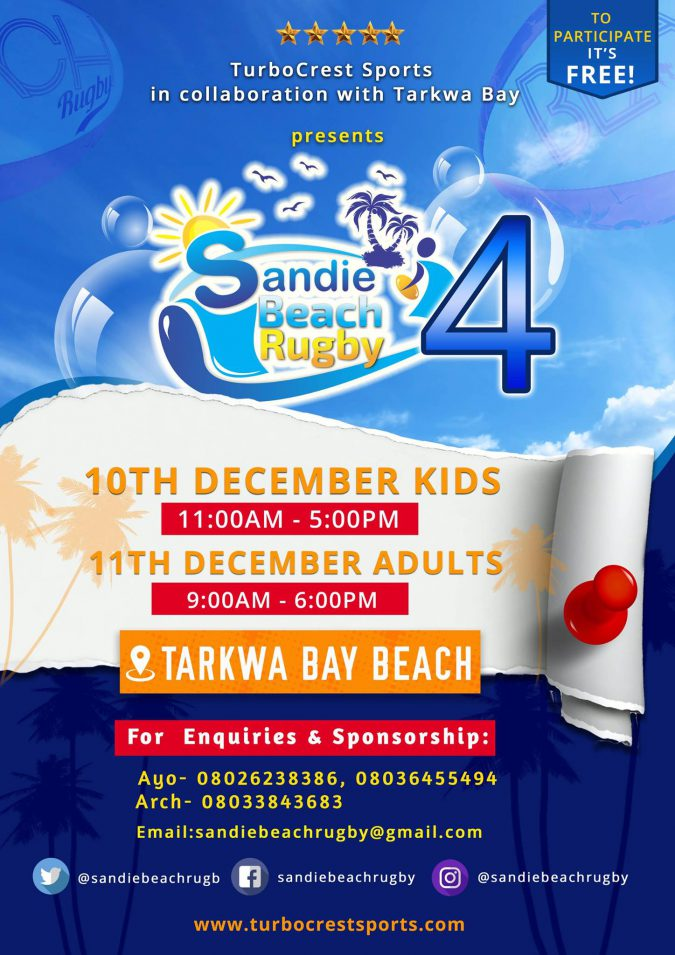 SANDIE BEACH RUGBY, TurboCrest Sports,