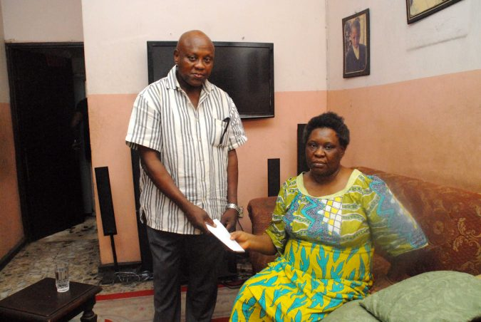 """NANF XMAS MILK OF KINDNESS"" FLOWS TO THE WIDOW OF EX SUPER EAGLES COACH AMODU SHUIBU"