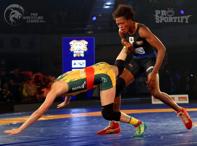 Nigeria's Adekuoroye Makes It 3 Wins In A Row At Pro Wrestling League CREDIT: Pro Wrestling League