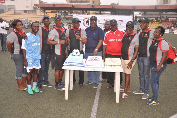 Seyi Akinwunmi in a Group Photograph With Board members and staff of the Lagos FA, SACMT