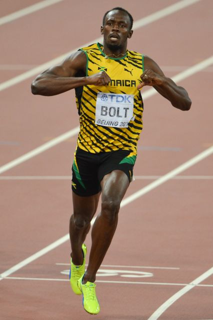 Usain Bolt Credit: Erik van Leeuwen [GFDL (http://www.gnu.org/copyleft/fdl.html)], via Wikimedia Commons