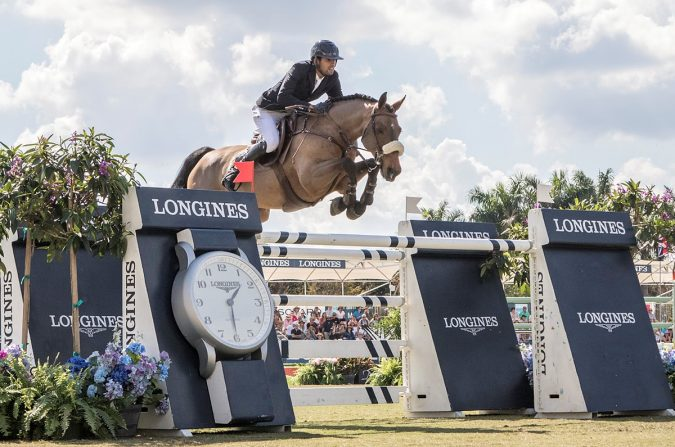 Egypt's Nayel Nassar takes the win and top qualifying points with Lordan in the sixth leg of the Longines FEI World Cup™ Jumping 2016/2017 North American League Eastern Sub-League. (FEI/ Debra Jamroz)