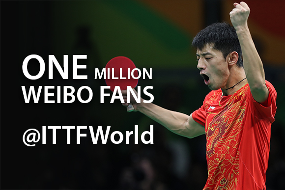 ITTF Reaches One Million Fans Milestone on Sina Weibo photo credit: ITTF