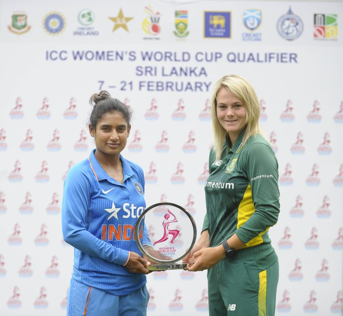 mithali-raj-and-dane-van-niekerk-with-icc-wwcq-2017-trophy, CRICKET