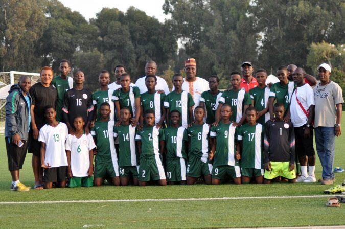nigeria s future eagles go up against morocco u15 squad