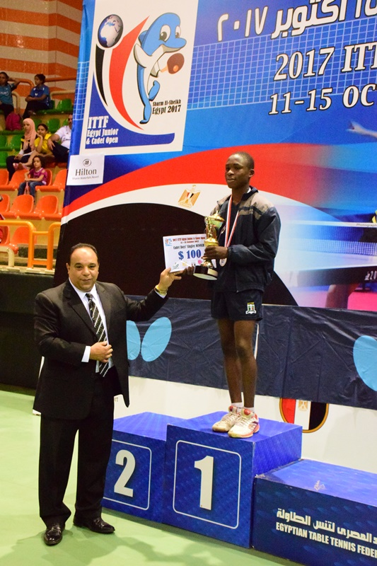 Nigeria s mati rules at ittf egypt junior open newfanzone for 10 table tennis rules
