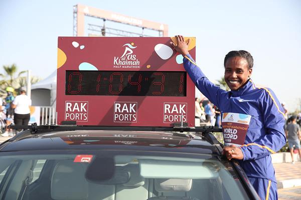 Ababel Yeshaneh , Ras Al-Khaimah Half Marathon,